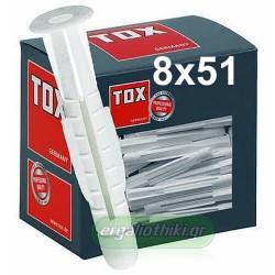 TOX Trika 8x51mm Βύσμα γενικής χρήσης (10 τεμάχια)