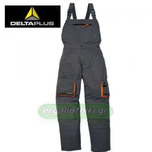 DELTA PLUS M2SAL Παντελόνι με τιράντες (σαλοπέτα) γκρί