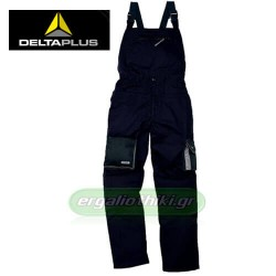 DELTA PLUS M2SAL Παντελόνι με τιράντες (σαλοπέτα) μαύρο