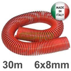Σωλήνας αέρα σπιράλ 30 μέτρα 6x8mm Ιταλίας