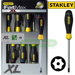 STANLEY 0-66-299 Σειρά κατσαβίδια FATMAX TORX ασφαλείας (6 τεμάχια)