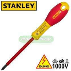 STANLEY FAT MAX Κατσαβίδια 1000V ηλεκτρολόγου (επιλέγετε μέγεθος)