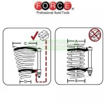 FORCE TOOLS 908T5 Συμπιεστής ελατηρίων αμορτισέρ