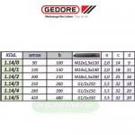 GEDORE 1.14 (BALDUR) Εξολκείς γενικής χρήσης με 2 βραχίονες (επιλέγετε μέγεθος)