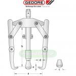 GEDORE 1.15 (BALDUR) Εξολκείς γενικής χρήσης με 3 βραχίονες (επιλέγετε μέγεθος)