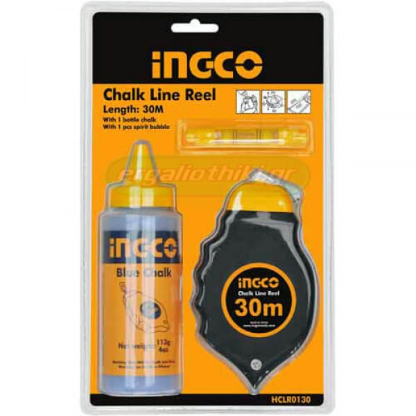 INGCO HCLR0130 Κίτ χάραξης με νήμα και κιμωλία