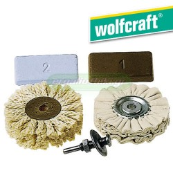 WOLFCRAFT 2179 000 Σετ γυαλίσματος μετάλλων