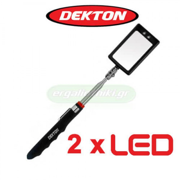 DEKTON DT60715B Καθρεπτάκι επιθεώρησης παραλληλόγραμμο με 2 led