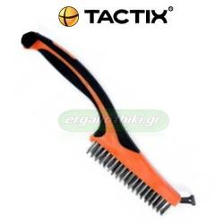 TACTIX 315021 Συρματόβουρτσα inox με ξύστρα