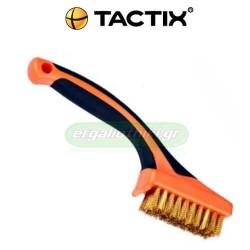 TACTIX 315011 Συρματόβουρτσα με ορειχάλκινες τρίχες