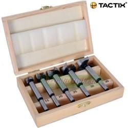 TACTIX 412171 φρεζοτρύπανα ξύλου σειρά 5 τεμαχίων