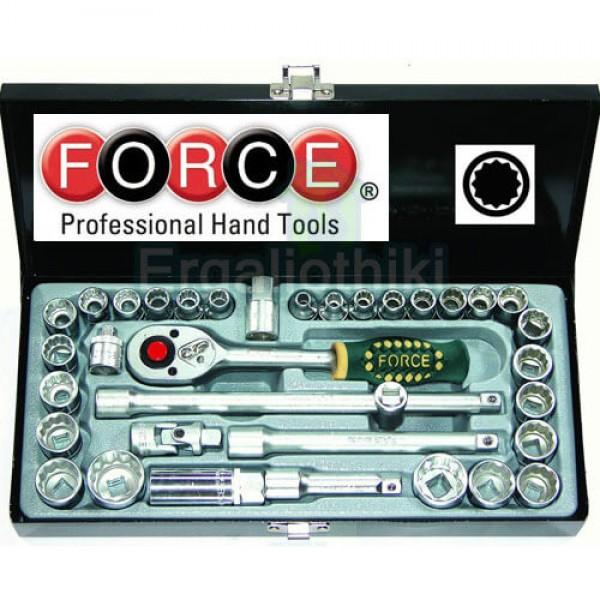 FORCE TOOLS 3351 Σειρά καρυδάκια 3/8 χιλιοστά και ίντσες
